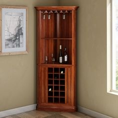 Solid Wood Corner Liquor Cabinet With Glass Doors throughout size 1200 X 1200 Wood Bar Cabinet Furniture - A lots of people much like entertaining their Bar Furniture, Decor, Corner Bar Cabinet, Bars For Home, Glass Cabinet Doors, Corner Wine Cabinet, Bar Design, Bar Cabinet, Cabinet