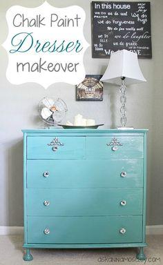 http://askannamoseley.com/2012/11/teal-dresser-makeover/
