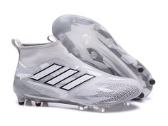 Adidas ACE 17+ Purecontrol Firm Ground Clear Grey Soccer Cleats