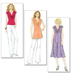 Purchase Butterick 5484 Misses' Top, Tunic and Dress and read its pattern reviews. Find other Dresses, Tops,  sewing patterns.