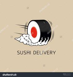 Sushi Delivery Logo Template Concept Vector Stock Vector 263864798 ...