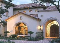 Spanish style home.