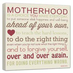 Motherhood... #quote