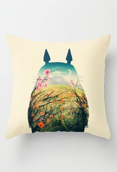 Totoro Play Outside Pillow