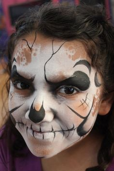 Fast skull face paint - fanciful faces