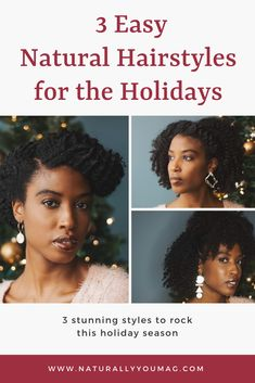 In this video, Aisha Beau shows us three sophisticated ways to style a twist out that are deceptively quick and easy. From an elegant sideswept updo to a half up/half down look with lots of volume, these are gorgeous yet easy natural hairstyles for the holidays. #naturalhairstyles #type4hair #teamnatural #naturalhairmag #longnaturalhair #naturalhaircommunity #naturalhairrocks