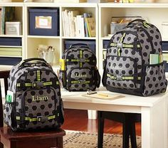 Mackenzie Gray Soccer Backpacks on potterybarnkids.com