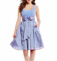 6637a326e08  160 Adrianna Papell Steel Blue Ponte Taffeta Fit  amp  Flare Sash Dress 2  NWT A962