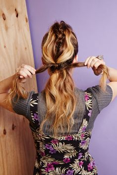 4 Dirty-Hair 'Dos To Try Today #refinery29  http://www.refinery29.com/dirty-hairstyles#slide36  Wrap side sections in a bow around the middle French braid.