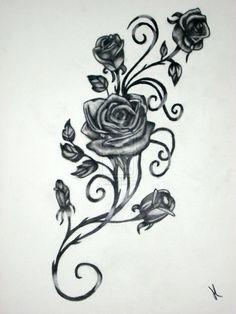 red rose vine tattoo - Google Search