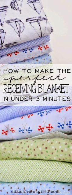 Craft Project Ideas: How to Make the Perfect Receiving Blanket in Under 3 Minutes