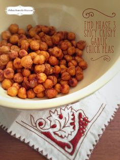 FMD Phase 3 RECIPE: Spicy Crispy Garlic Chick Peas, this is my version with a hit of smoked paprika and garlic, a perfect crunchy snack for phase 3 FMD. #FMD #Snack #Phase3 http://www.urbandomesticdiva.com/2015/02/fmd-phase-3-recipe-spicy-crispy-garlic.html
