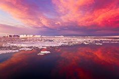 Antartide all'alba