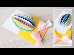 How to make a greeting card? How to make some decorations? In this clip I'll show You step by step how to make a handicraft. Visit my channel, where You can . New Clip, To Loose, Try It Free, Handicraft, Easter Eggs, Diy And Crafts, Christmas Cards, Greeting Cards, Make It Yourself