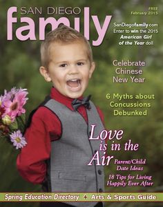February 2015: 18 Tips to Living Happily Ever After, 6 Myths about Concussions Debunked, Annual Arts & Sports Guide and Spring Education Directory.