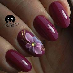 3d Nail Art, Nail Polish Art, Nail Arts, Sns Nails, Cute Nails, Pretty Nails, Arylic Nails, Chunky Blonde Highlights, Dark Purple Nails