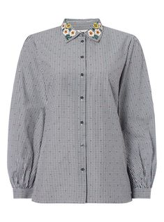 SKU: PLINTH EMB GINGHAM SHIRT:Mono