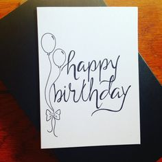 A hand drawn, hand penned happy birthday card to send your love to someone you love to celebrate their special day! Shop online for more Pen Pal Prints cards, invitations, announcement cards, and more!