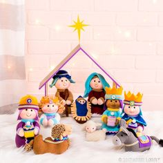 Celebrate the true meaning of Christmas with a sweet nativity scene.