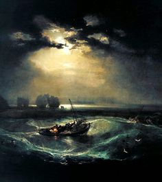 William Turner - Fishermen at Sea c.1796 #art #arthistory #artworld #painter #painting #sea #ocean #seascape #nautical #fishing #williamturner #atmospheric