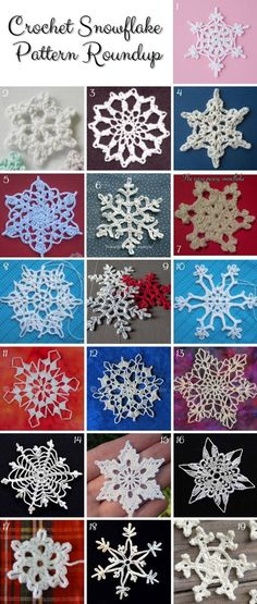 Crochet Snowflake FREE Patterns:                                                                                                                                                                                 Más