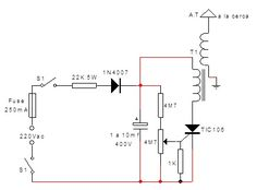 Sin título11 Power Led, Ac Power, Electric Fence Energizer, Electrical Circuit Diagram, Stove Heater, Electronic Schematics, Electrical Installation, Circuit Design, Shop Layout