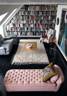 I don't so much like the actual shelves in this one, but the couch is awesome