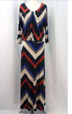 Chevron multi colored maxi dress  Shannasthreads.com
