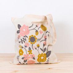 Tote bag fleuri @Depeapa #tote #totebag #fleurs