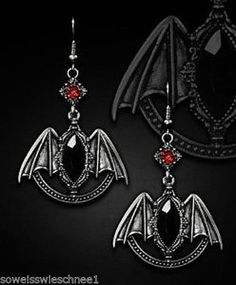 Restyle-Ohrringe-Gothic-Lolita-Vampire-Wings-Barock-Victorian-Bat-WGT-Earrings