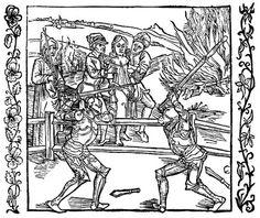 Dürer, Albrecht: Illustration zum »Der Ritter vom Turn«, Szene: Eine unschuldig verurteilte Jungfrau wird von einem Ritter gerettet