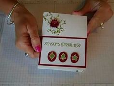 Another video in the FLASH CARD series.  This video will show you how to manipulate those 2 little pieces of cardstock into a very merry Christmas card featuring the Merry Minis stamp set from Stampin Up!  I love hearing your comments and your thoughts on this series!  Thanks for watching!  Check out www.simplysimplestamping.com for more videos...