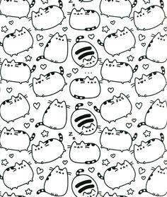 Freebie Pusheen Cat Coloring Page