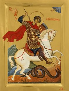 Whispers of an Immortalist: Icons of Martyrs 12 Byzantine Icons, Byzantine Art, Religious Pictures, Religious Icons, St George S Day, Saint George And The Dragon, Spiritual Images, Archangel Michael, Orthodox Icons