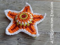 Crochet pattern STARFISH by ATERGcrochet by ATERGcrochet on Etsy