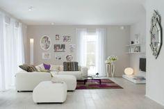 Mögliches Aussehen der Wohnzimmer (Sofabereich)