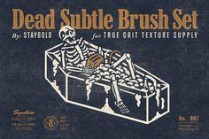Dead Subtle Brush Set by True Grit Texture Supply on @creativemarket