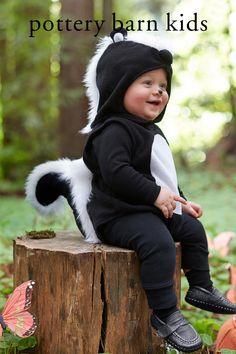 Baby First Halloween Costume, Animal Halloween Costumes, Halloween Kids, Baby Skunk Costume Diy, Scary Costumes, Diy Costumes For Boys, Toddler Costumes, Baby Boy Costumes, Children Costumes