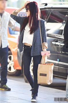 SNSD Tiffany Airport Fashion 131006 2013
