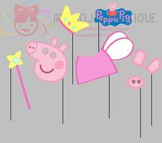 Peppa Pig fiesta foto Booth Props Peppa Pig por IraJoJoBowtique