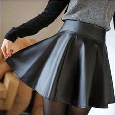 Faux Leather Skater Skirt Brand new Skirts Mini