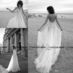 Liz Martinez 2016 Elegant Lace Tulle Summer Holiday Beach Wedding Dresses Sheer Neck Illusion Back Cheap Bridal Boho Wedding Gown Tea Line Wedding Dresses Top Of The Line Wedding Dresses From Gaogao8899, $110.56| Dhgate.Com