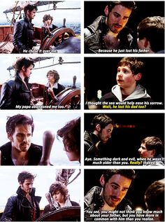 This is actually so true. Henry and Baelfire were both pushed into tough situations at a young age, and as a result were pretty mature. They both lost their dads, but they did all they could to bring out the good in people, even when others wouldn't believe them.