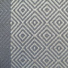 Diamond Border Flatweave Graphite from Hartley & Tissier Patterned Stair Carpet, Stairway To Heaven, Stair Runners, Carpet Stairs, Stairways, Graphite, Staircase Ideas, Flooring, Blanket