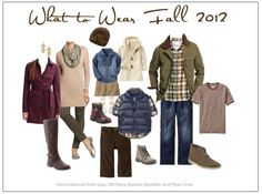 Family Photo What to Wear | What to Wear for Family Photos Fall 2012 via Adrienne Zwart ... by claudine