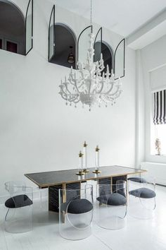 Modern dining chairs are really great furniture pieces to include in your industrial home design ideas. Dining Room Lighting, House Design, Dining Room Design, Room Design, Dinning Room, Interior, Dinning Room Furniture, Furniture Decor, Modern Dining Chairs