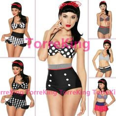 eBay listing for high waisted swim suit up to 2X for super cheap. Underwire in top