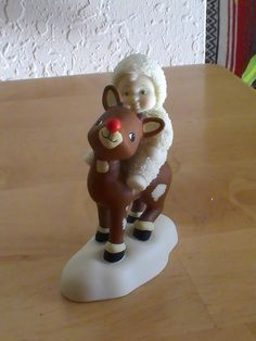 "Dept. 56 Snowbabies ""Rudolph Lights The Way"" Figurine"