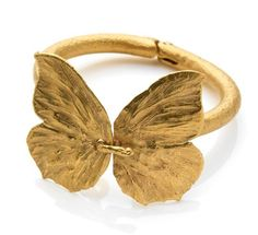 A Gilt Bronze Butterfly Bangle by Claude Lalanne