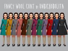 Fancy classic wool coat at Un bichobolita via Sims 4 Updates